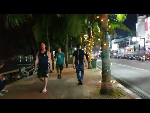 Pattaya Beach Road Friday Night 20.01.2018 About 2:00am