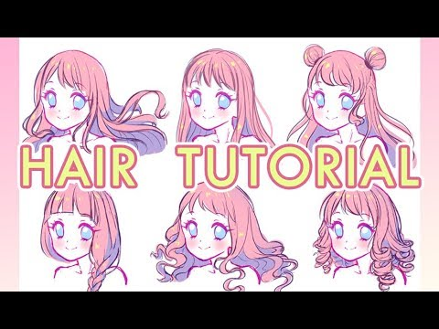 How to draw hair【Voice Over】ENG subs