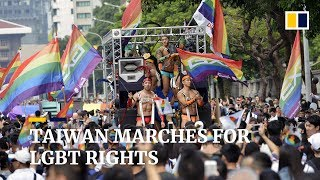 Huge turnout at Taiwan gay pride parade ahead of same-sex marriage vote