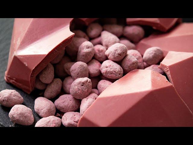 【手作りバレンタイン】ルビーチョコのアマンドショコラ Ruby Chocolate almond