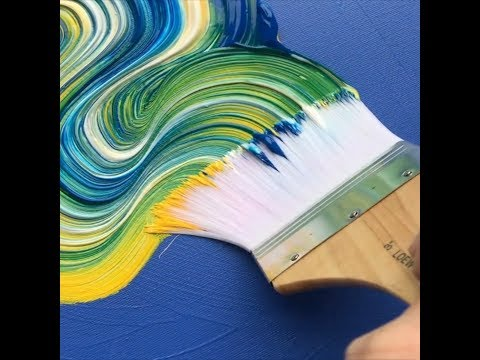 SUPER SATISFYING Colorful Paint Strokes by Artist Dan Huston