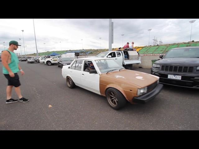 ***CRASH*** pair of 4AGE Corollas deafen CalderPark Raceway