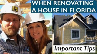 Things You Need to Know When Renovating Your House in Florida