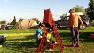 My Water-balloon Trebuchet Loaded And Fired By 7-year-olds