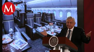 AMLO analiza rifar el avión presidencial;