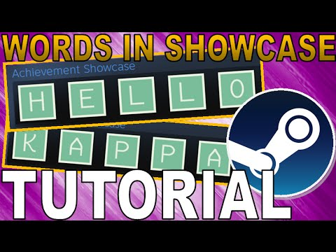Add LETTERS To Steam Achievement Showcase Tutorial - YouTube - words for achievement
