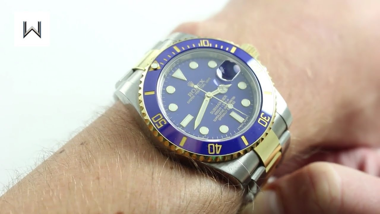 Rolex Two,Tone Submariner Date 116613LB Luxury Watch Review
