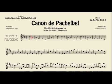 Pachelbel's Canon in D Sheet Music for Trumpet and Flugelhorn tocapartituras com version