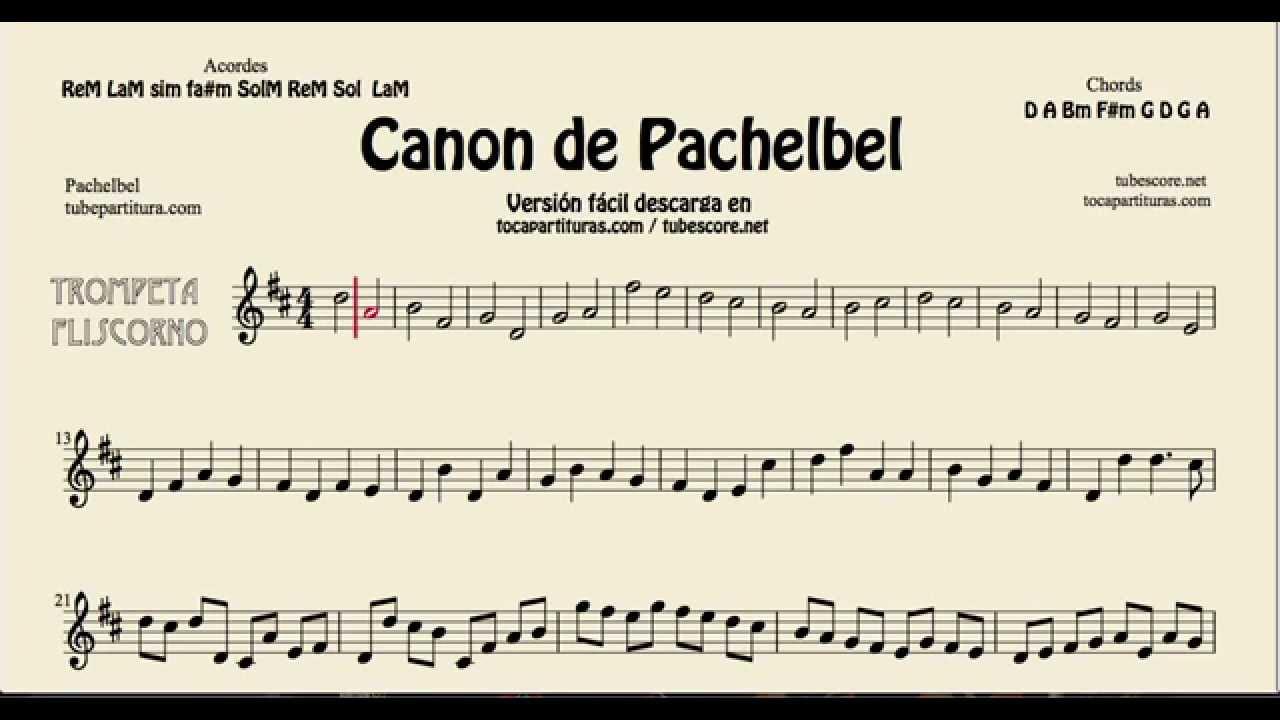 Pachelbels canon in d sheet music for trumpet and flugelhorn pachelbels canon in d sheet music for trumpet and flugelhorn tocapartituras com version hexwebz Gallery