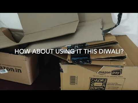 Diwali Akash Kandil (Sky Lantern) from Amazon shopping boxes