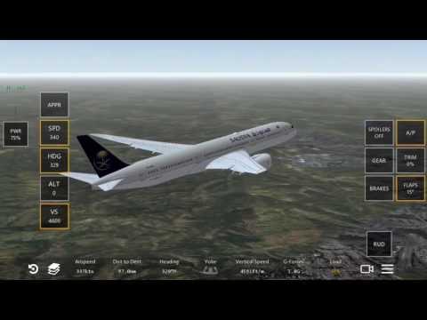 Infinite  flight 787-9 saudi
