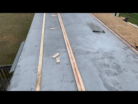 How to Repair Single Wide Mobile Home Trailer Roof Training Video 1 of 2