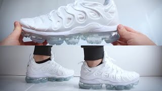 9d89e90041c69 Nike Air Vapormax Plus Triple White UNBOXING   ON ...