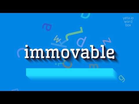"How to say ""immovable""! (High Quality Voices)"