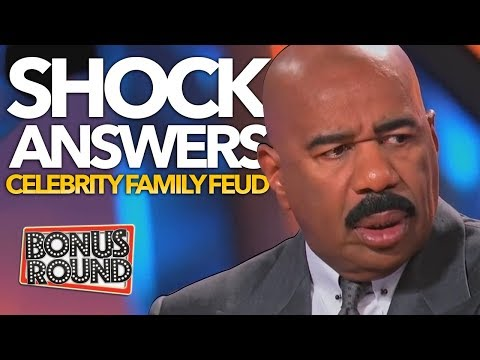 MOST SHOCKING Celebrity Family Feud Answers! STEVE HARVEY Can't Believe It! Bonus Round
