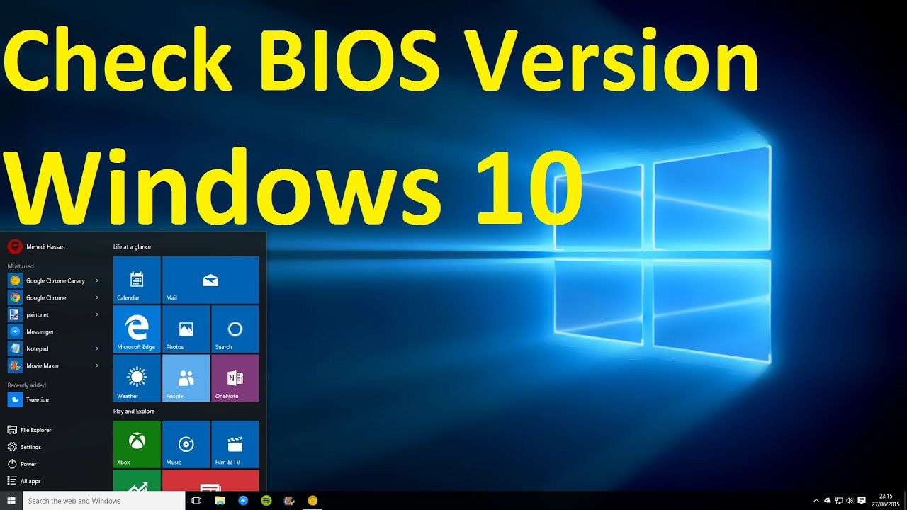 latest bios version windows 10