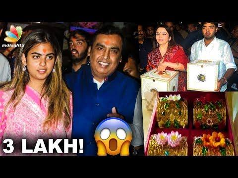 3 Lakh Worth Wedding Invitation for Mukesh Ambani's Daughter | Isha & Anand Piramal