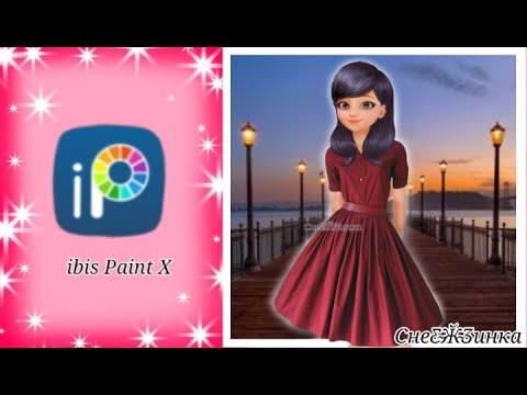Маринет в красном платье// Ibis Paint X