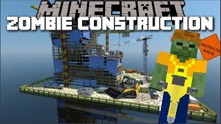 Minecraft ZOMBIE HOUSE CONSTRUCTION MOD / ZOMBIE'S BUILD ME A BRAND NEW MONSTER !! Minecraft