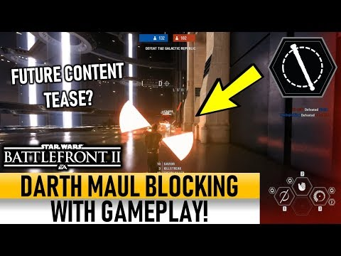 DARTH MAUL BLOCKING WITH GAMEPLAY! Future Content Tease? Star Wars Battlefront 2 thumbnail