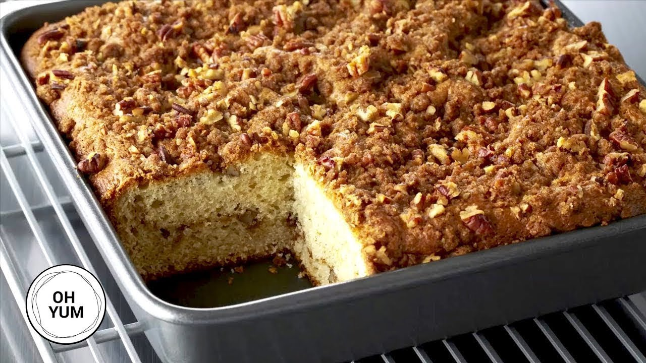 Sour Cream Pecan Coffee Cake Anna Olson