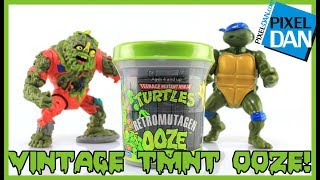 Retromutagen Ooze Teenage Mutant Ninja Turtles 1989 Vintage Slime Can Opening