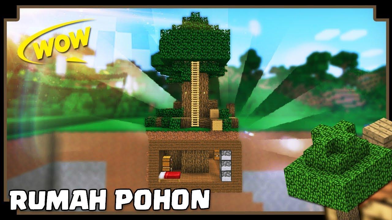CARA MEMBUAT RUMAH POHON Minecraft Indonesia YouTube