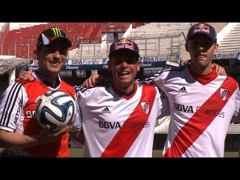MotoGP™ riders visit River Plate's stadium in Buenos Aires