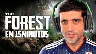 Zerando The Forest em 15 minutos, SPEEDRUN INSANO - React