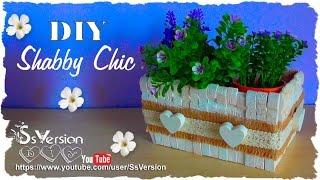 Tutorial: Contenitori in legno Shabby Chic | Riciclo Creativo | DIY Wooden Decor