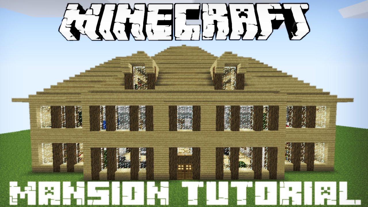 Minecraft Wooden Mansion Tutorial Part 2 - YouTube Minecraft Mansion Ideas Youtube