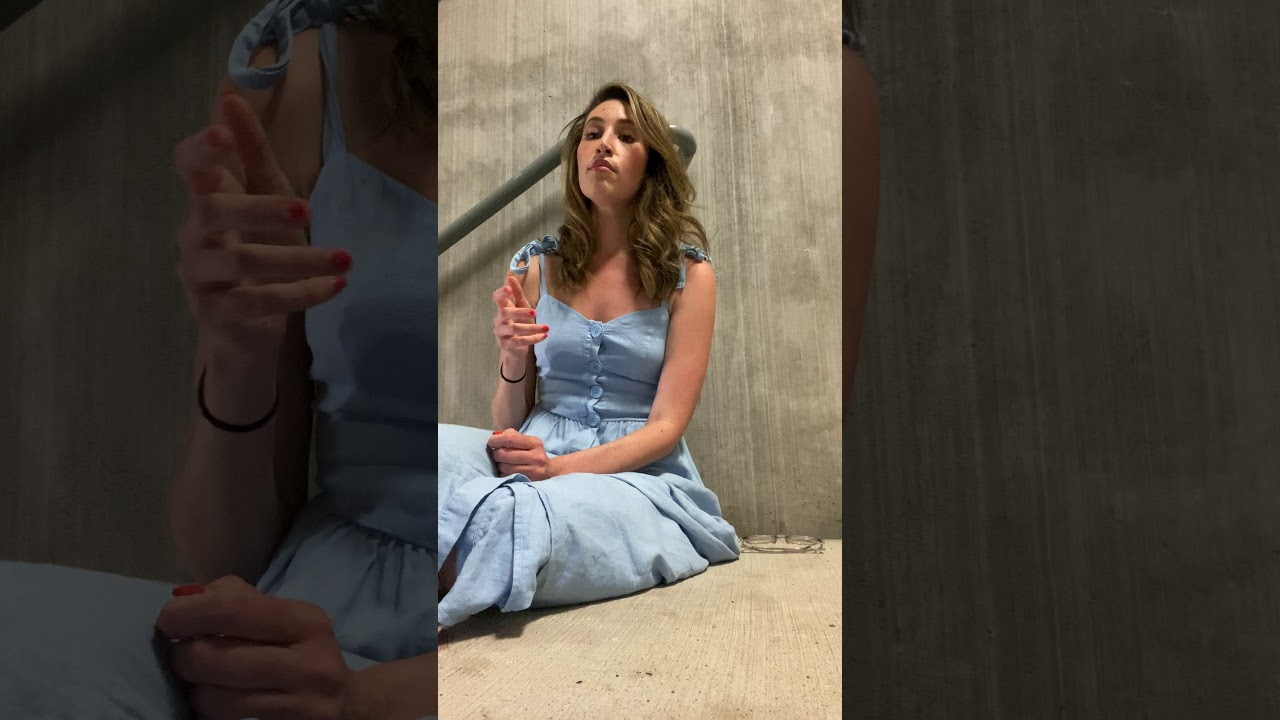 "Girls sings ""Time to Say Goodbye"" in a Stairwell"