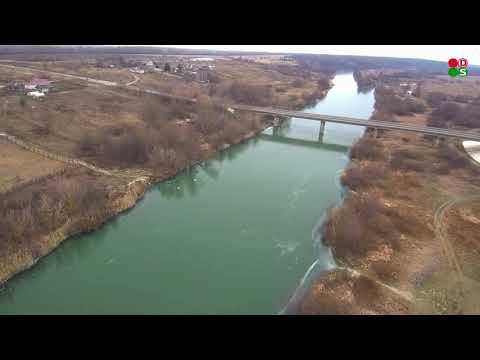 Мордовия. Ковылкинский район. Кочелаево. Мост через реку Мокша. Мокша подо льдом.