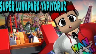 Yeni Lunaparkımız Güzel mi ? Roblox Theme Park 2