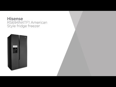 Hisense RS694N4TF1 American-Style Fridge Freezer - Black Steel | Product Overview | Currys PC World