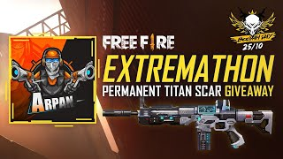 FREE FIRE EXTREMATHON TITAN SCAR GIVEAWAY LIVE - BOOYAH DAY SPECIAL