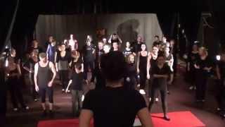 Урок актерского мастерства (Смотреть с 33 мин.) в театре студии Квадрат