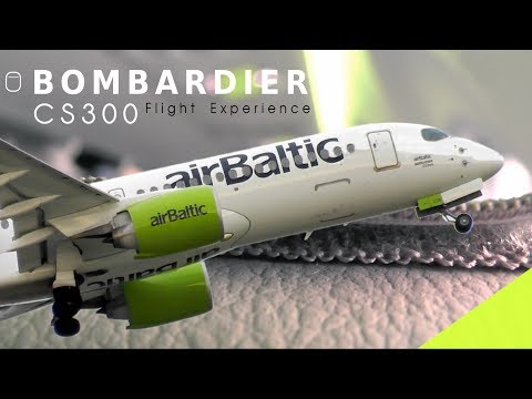 BOMBARDEIR CS300 Flight Experience on board Air Baltic | The New CSeries