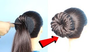 New twisted bun hairstyle for prom/wedding || prom || penteados || hair style girl || hairstyles
