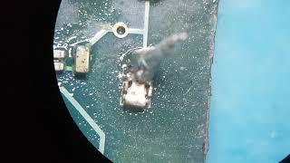 Ferro adaptado para retirar capacitor da placa rápido