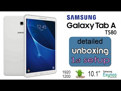 """Samsung Galaxy Tab A T580 10.1"""" detailed Unboxing and first startup [official video]"""