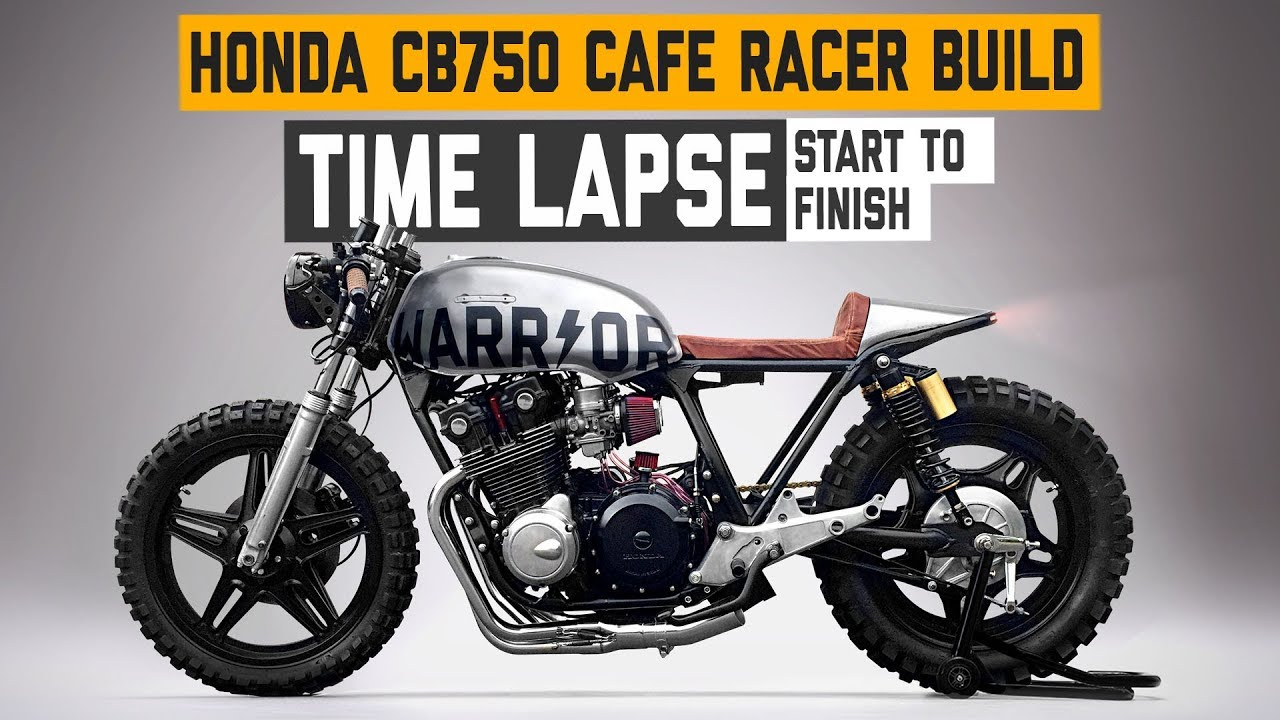 Honda Cb750 Cafe Racer >> Honda Cb750 Cafe Racer Warrior Build Time Lapse