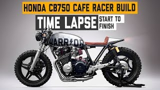 Honda CB750 Cafe Racer 'WARRIOR' Build Time Lapse