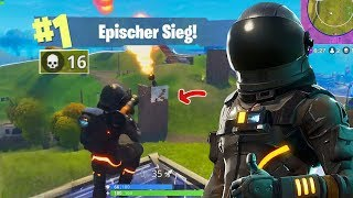16 KILL SOLO SIEG with NEW BLACK ASTRONAUTS! (Fortnite Battle Royale Deutsch Skin)