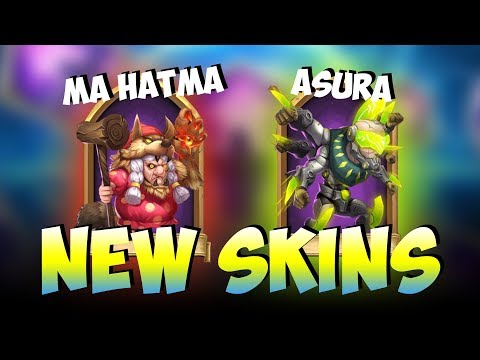 NEW SKINS For Ma Hatma And Asura... Really Cool! Castle Clash
