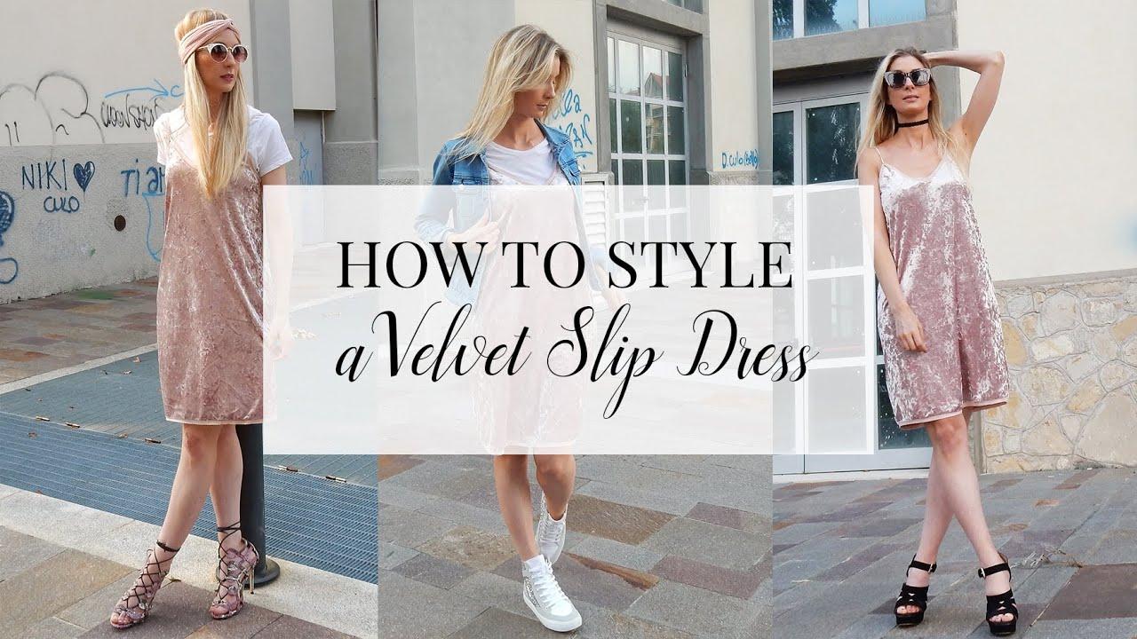 Velvet style dress