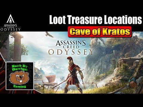 Assassins Creed Odyssey - Cave of Kratos-  Loot Treasure Locations