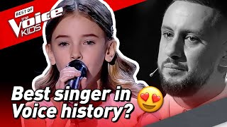10-Year-Old brings COACH TO TEARS in The Voice Kids