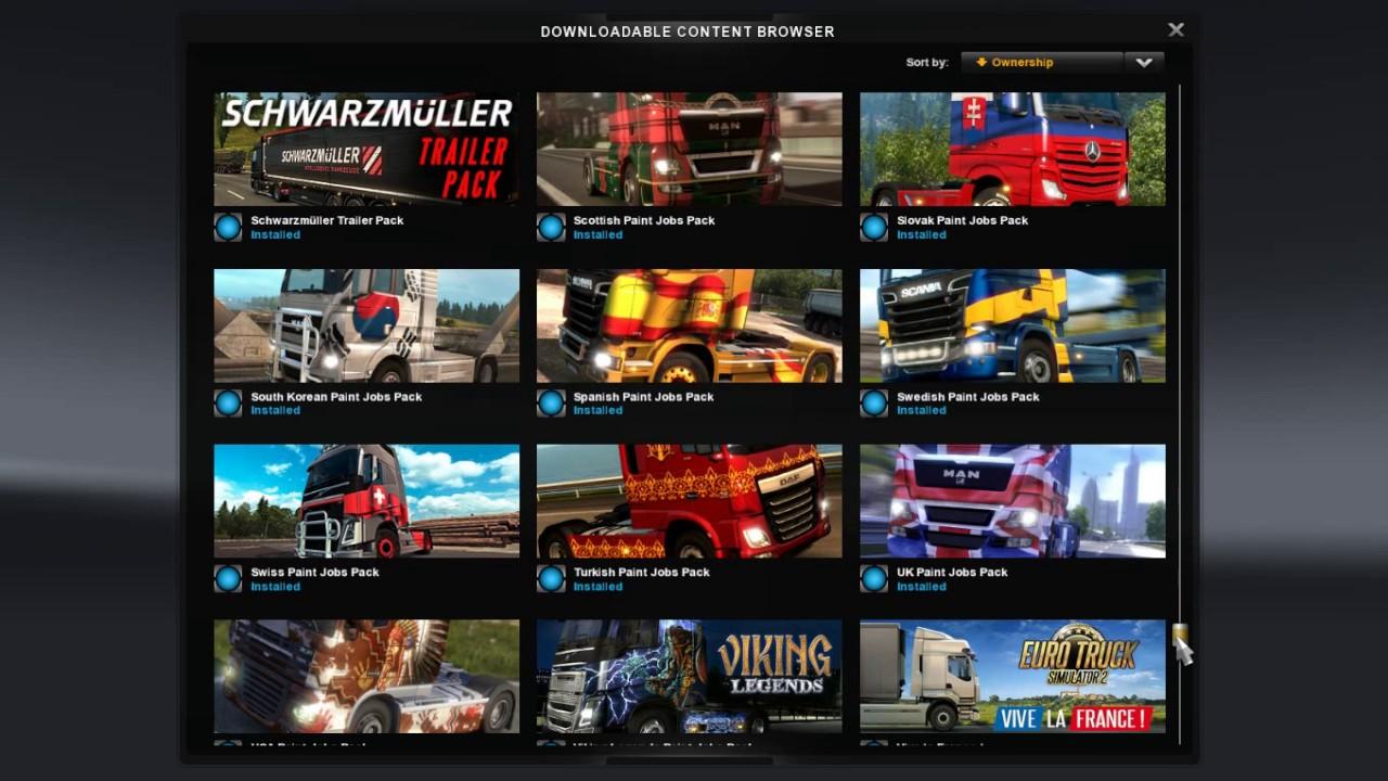 Скачать euro truck simulator 2 dlc