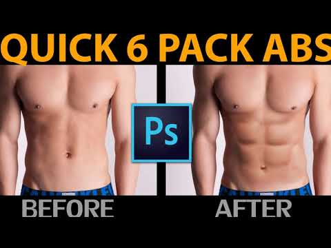 Photoshop Tutorial - How to Get 6 Pack Abs in Photoshop
